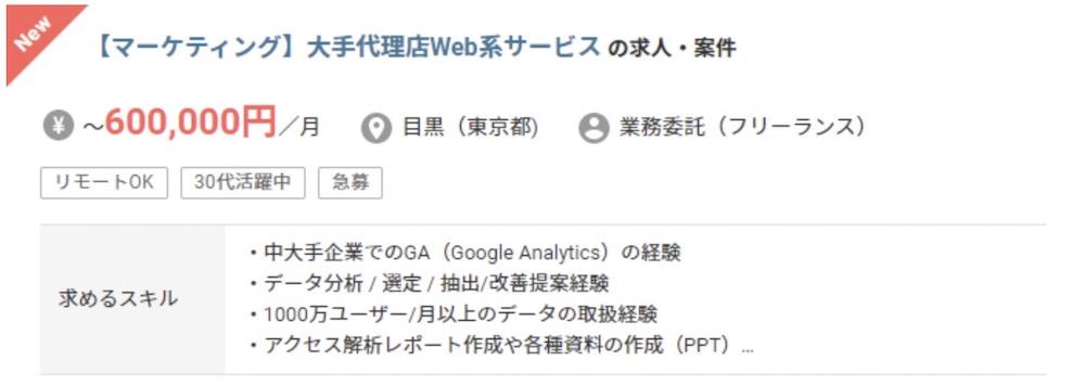 WEBマーケティングの案件情報