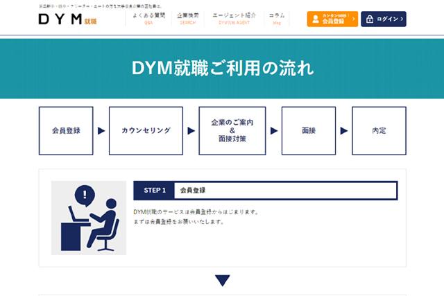 DYM就職を利用して転職する流れ